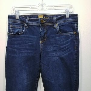 Kut from the Kloth Dark Wash Roll Cuff Jeans sz 6